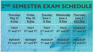 2nd exam schedule