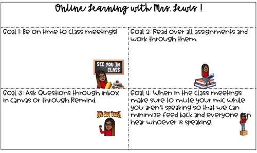 Online learning with Mrs. Lewis
