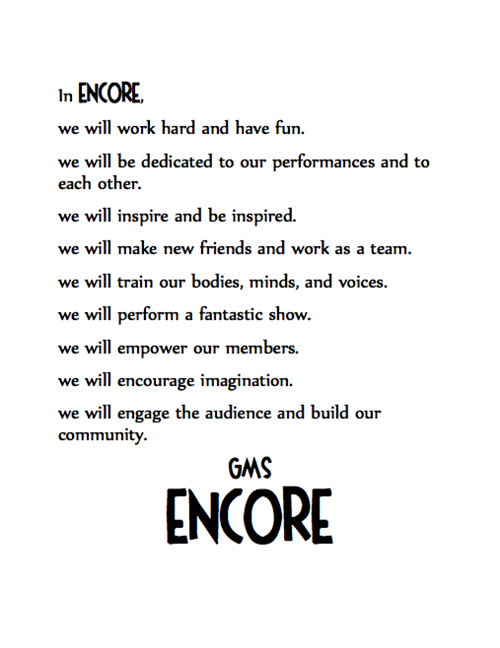Encore Mission Statement