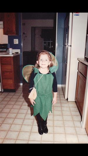 Ms. K, ready for Halloween at age 4!