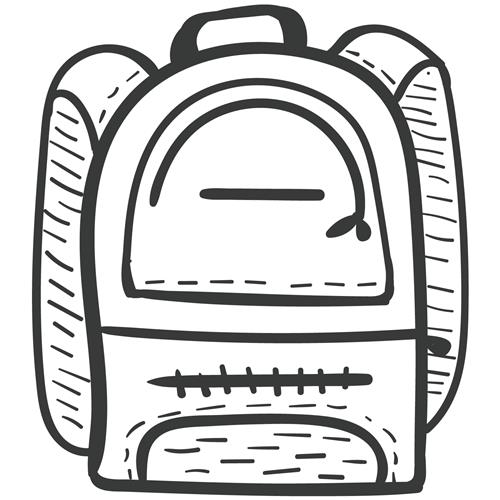 Backpack clipart