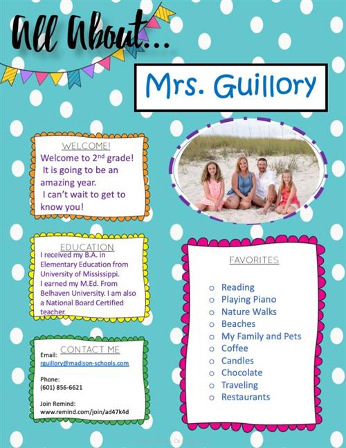 All About Mrs. Guillory